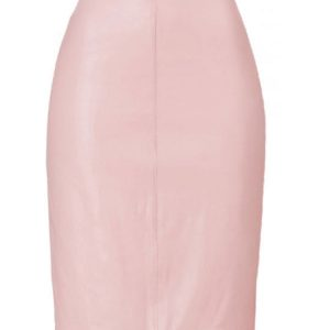 276f70d0b3 Pink Satin Straight Skirt, Custom Made Skirt, Custom Fit