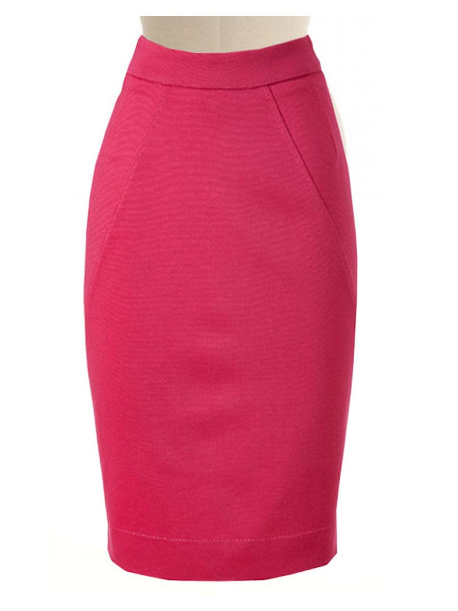 29400e5ad Rose Pink Pencil Skirt, Custom Handmade, Fully Lined, Linen Fabric ...