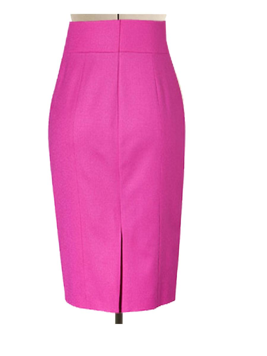 96ed5684b Fully lined Pink Pencil Skirt, custom handmade to fit – Elizabeth's ...