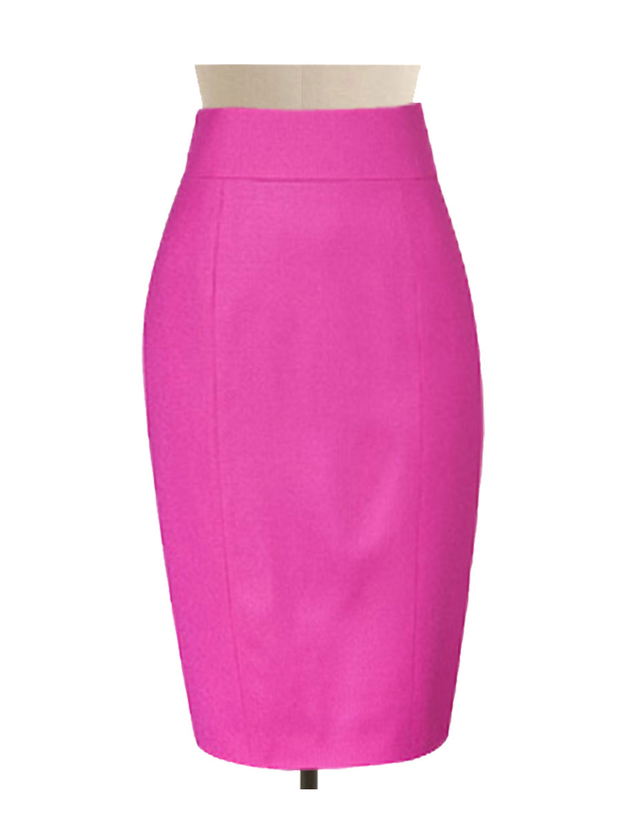 Fully Lined Pink Pencil Skirt Custom Handmade To Fit