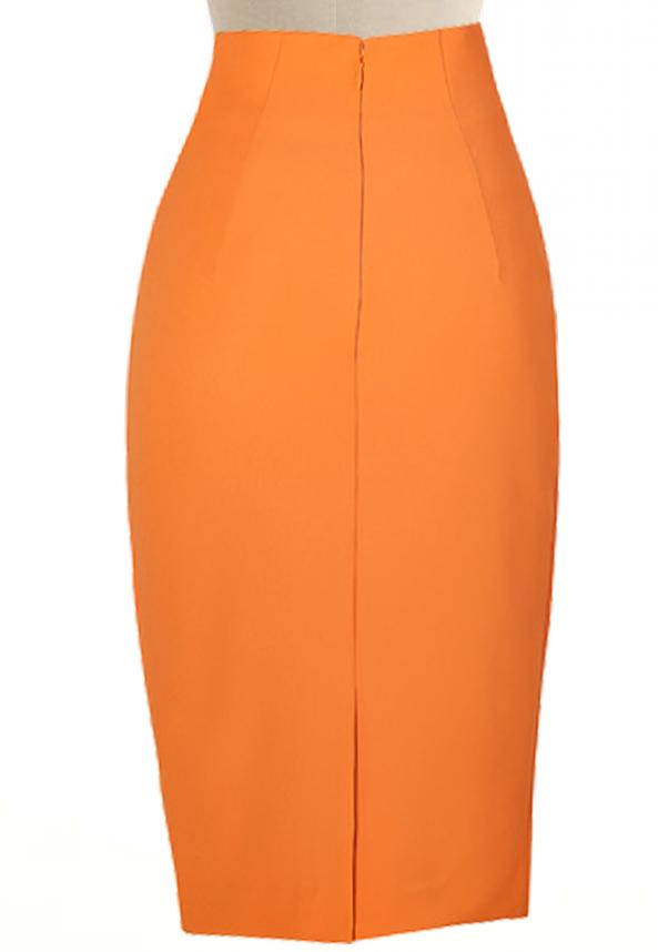 ee380a39972 Mustard Pencil Skirt – Elizabeth s Custom Skirts