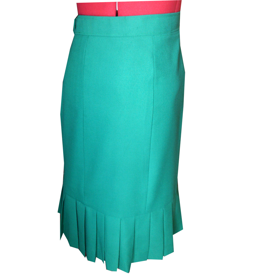Six Gore Skirt With Knife Pleats Custom Handmade Fully