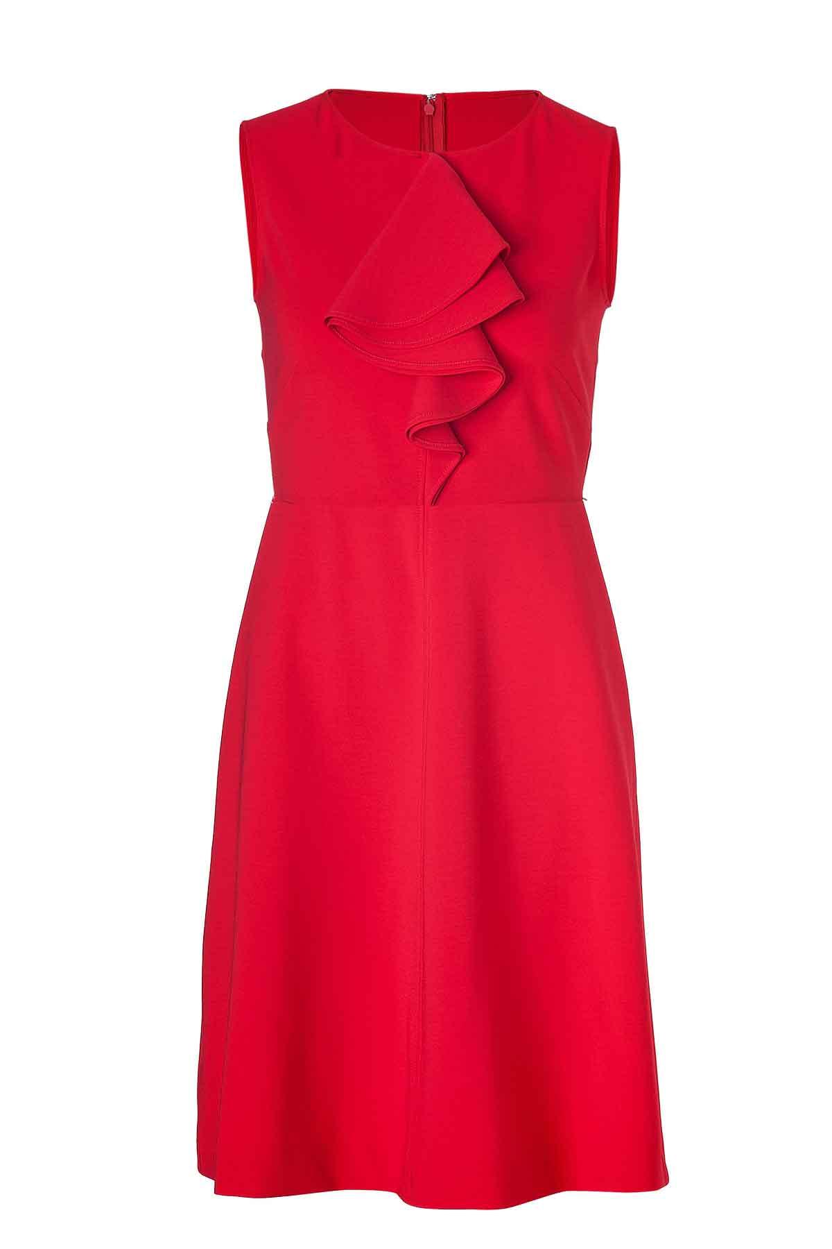 3013bd9d88809 Bright Red Linen Dress, Custom Fit, Fully Lined, Handmade, Linen Fabric
