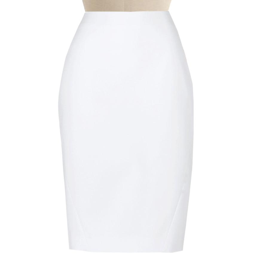 White Pencil Skirt, Custom Fit, Handmade, Fully Lined ...