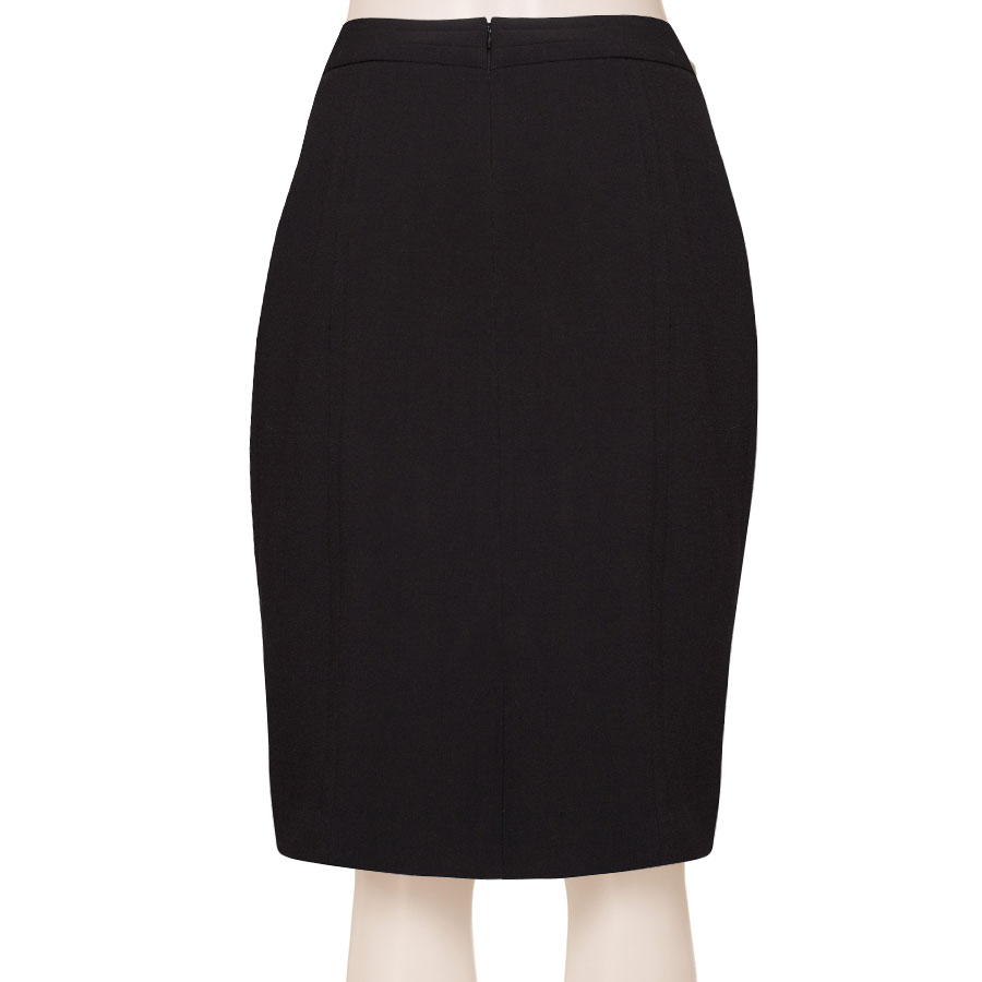 ac069f9b2 Tailored Wool Blend Black Pencil Skirt, Custom Fit, Handmade, Fully Lined,  Wool Blend Fabric