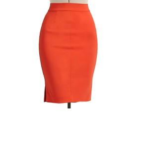 731638b119 Burnt Orange Pencil Skirt With Side Split, Custom Fit, Handmade, Fully  Lined, Linen Fabric