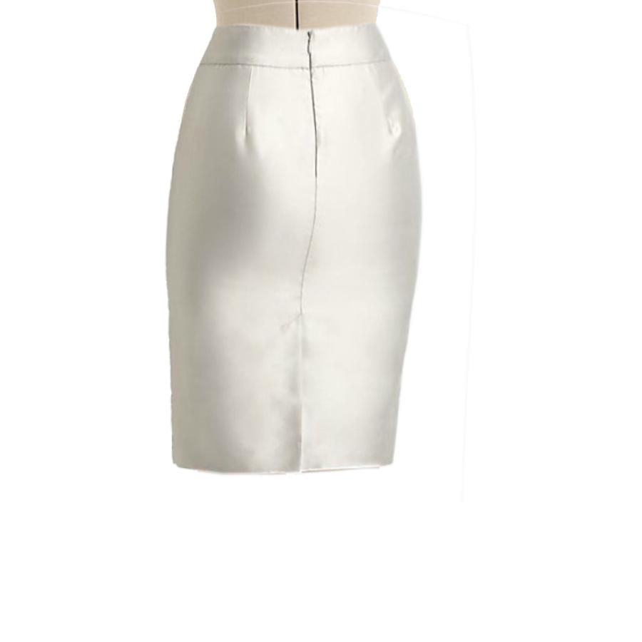 275ae3b949 Cream Satin Pencil Skirt, Custom Fit, Handmade, Fully Lined, Satin Fabric