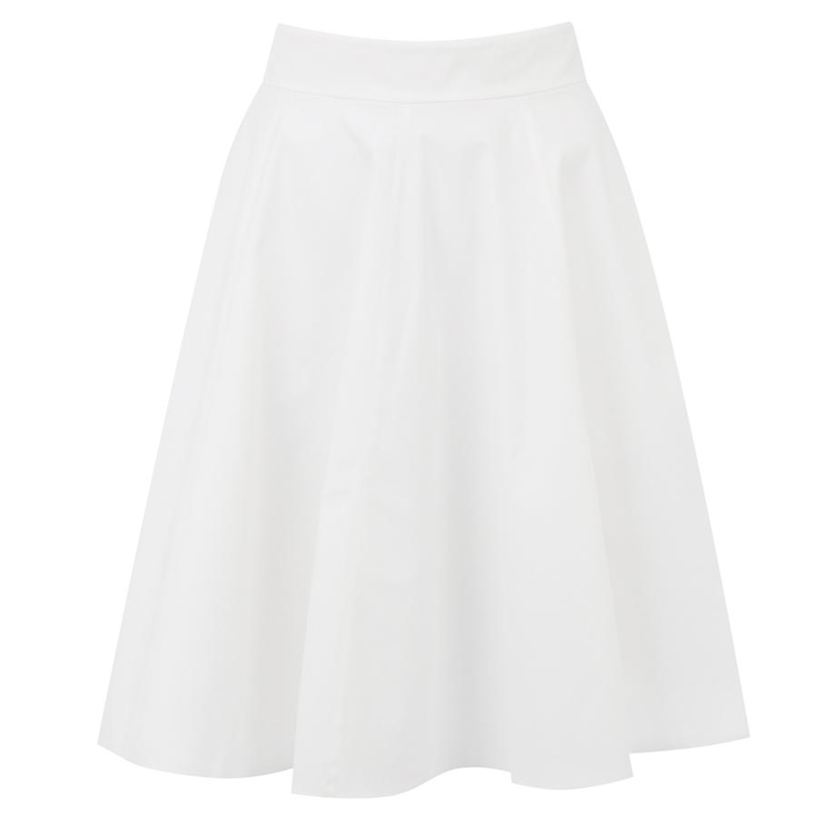 b5d2834165 White Cotton Flared Skirt