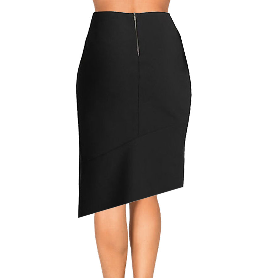 Black and White Asymmetrical Pencil Skirt – Elizabeth's ...