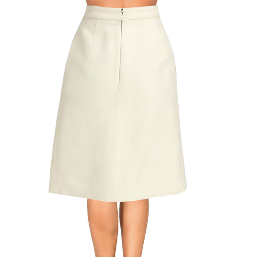 Cream Inverted Pleat A Line Skirt Elizabeth S Custom Skirts