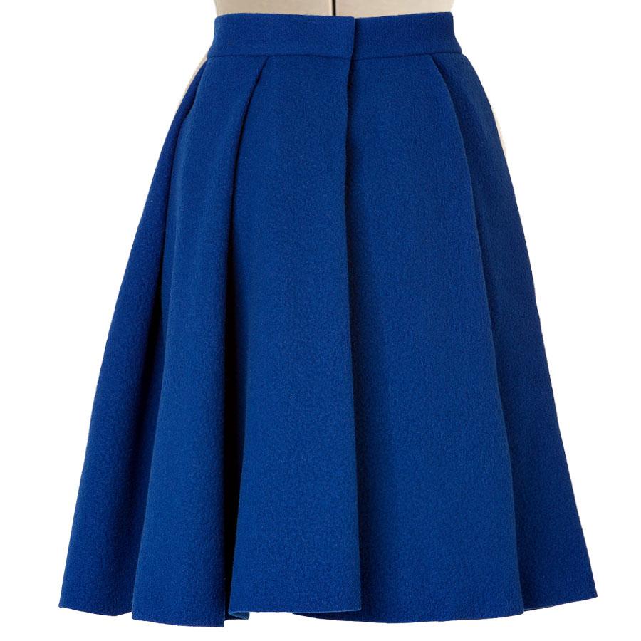 Royal Blue pleated skirt back - Royal Wedding Pdf