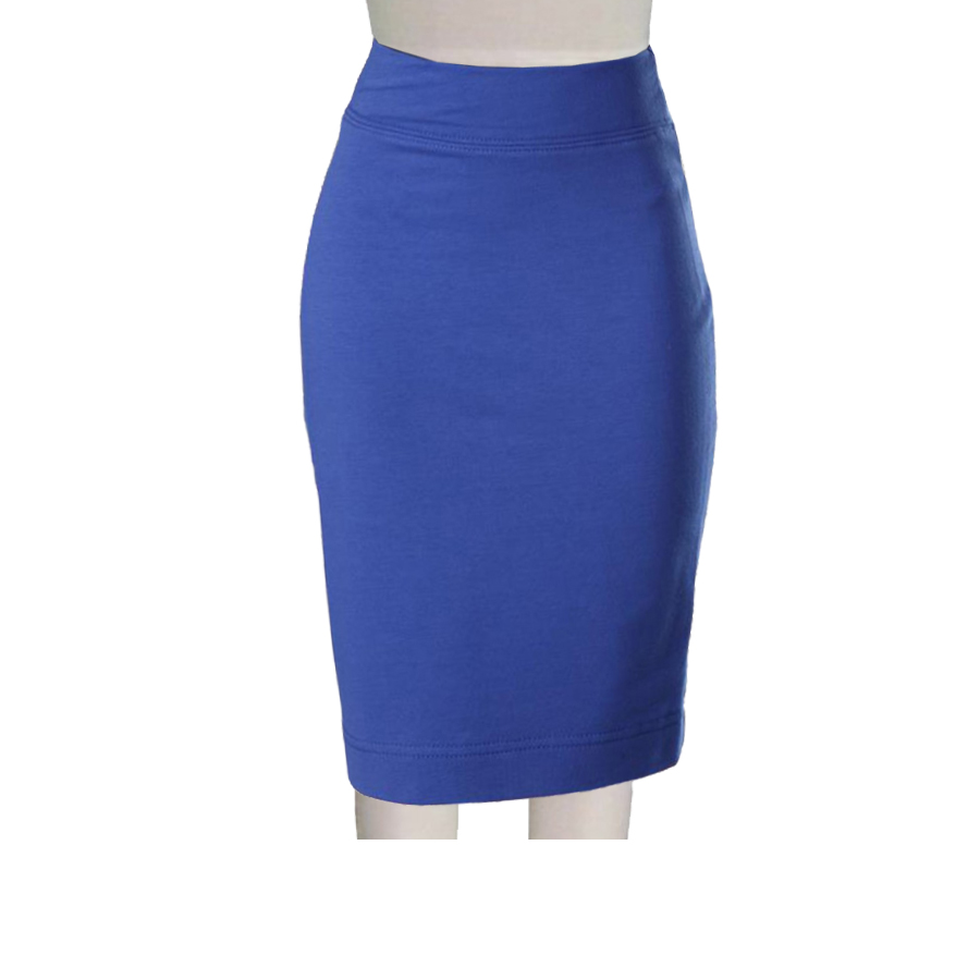 various styles diverse styles world-wide renown Plus Size Royal Blue Ponte Knit Pencil skirt