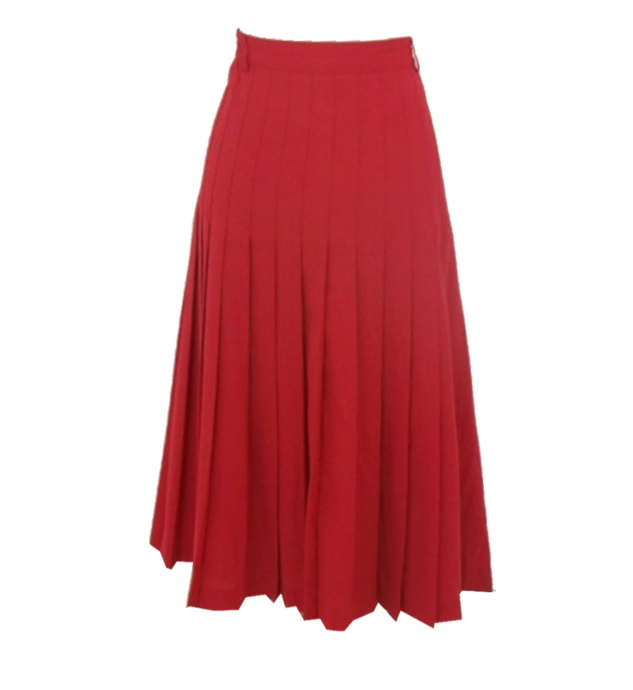 Red Linen pleated skirt – Elizabeth's Custom Skirts