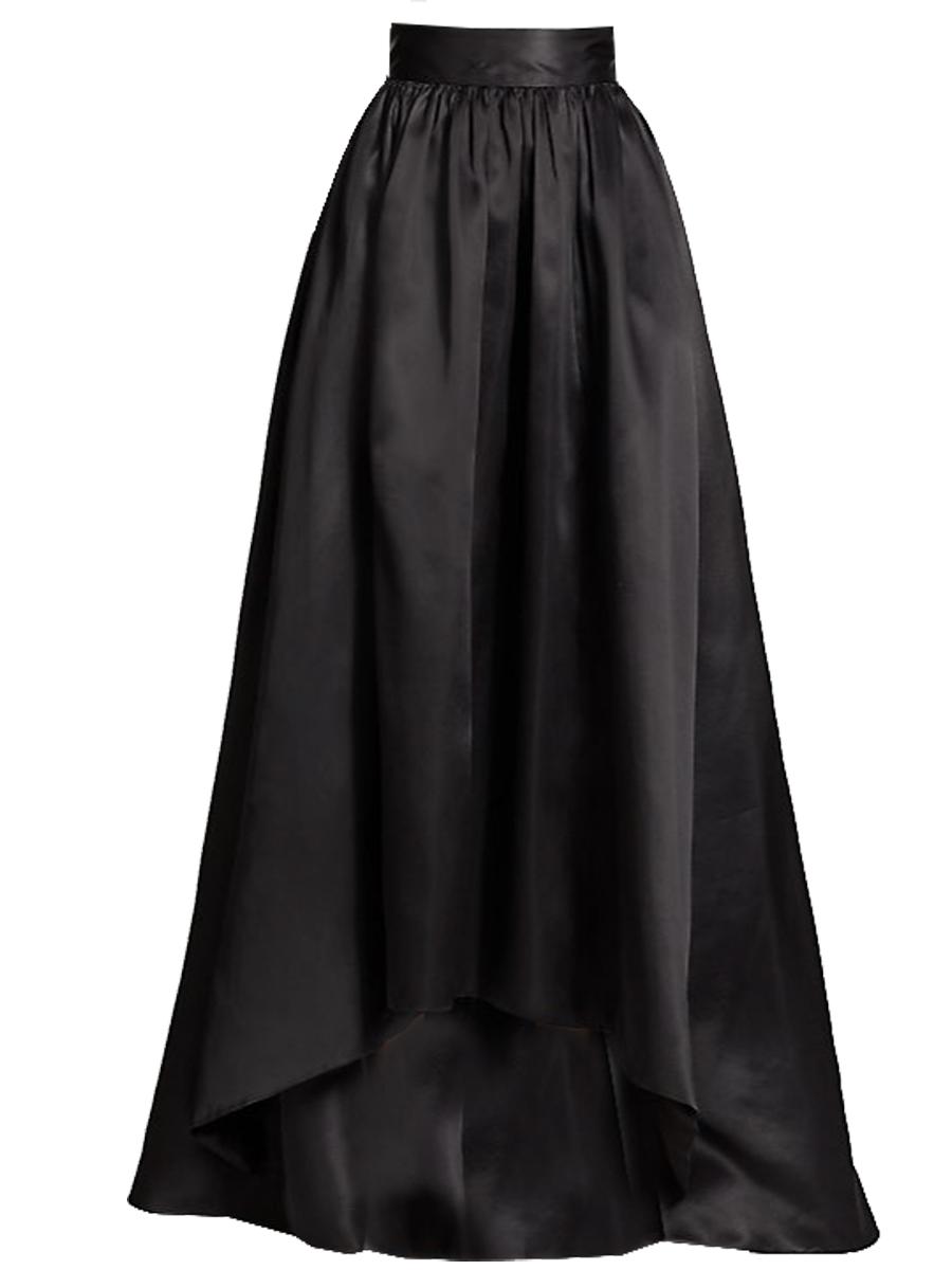 Satin Maxi Asymmetrical skirt various colors – Elizabeth's ...