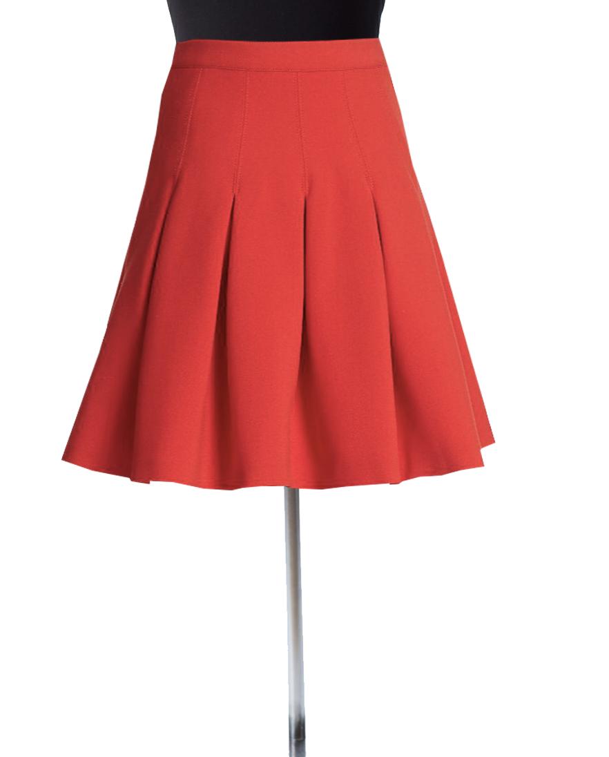 Red Box Pleated Skirt – Elizabeth's Custom Skirts