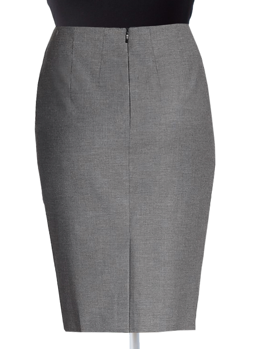 Office Wear Wool Blend Pencil Skirts