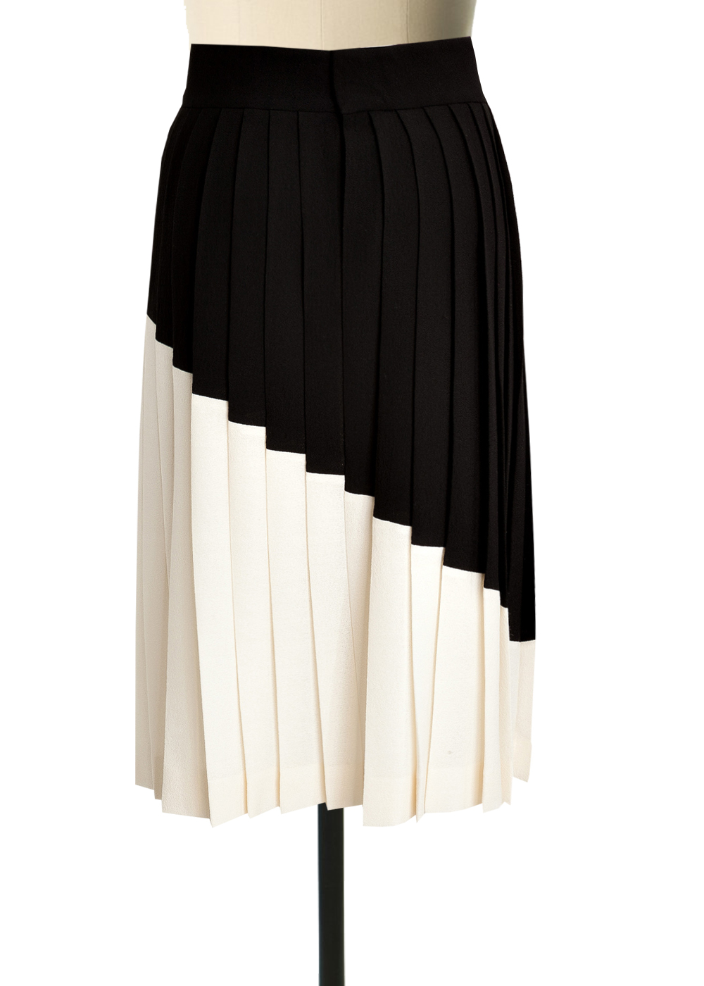 Black And White Double Georgette Pleated Skirt Elizabeth