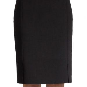 0ba12e9747 Plus Size Double-Face Black Linen Pencil Skirt