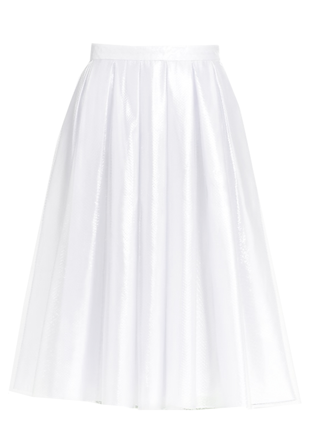 Pleated White Satin Skirt with sheer overlay – Elizabeth's ...