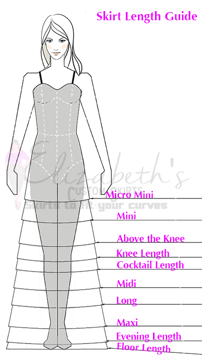 How To Measure Your Skirt Length Elizabeth S Custom Skirts