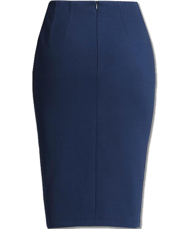 Blue Ponte Knit Pencil Skirt – Elizabeth s Custom Skirts 81586ead68d