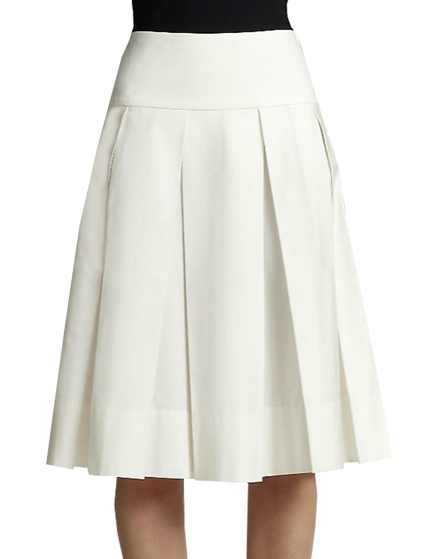 Box Pleated Skirt With Yoke Elizabeth S Custom Skirts