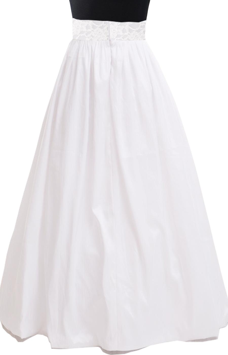White Taffeta Maxi Skirt Elizabeth S Custom Skirts